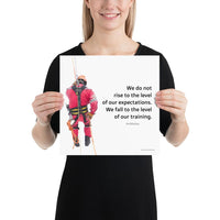 Rise To Expectations - Premium Safety Poster Poster Inspire Safety 12×12