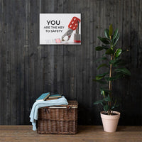 You Are The Key - Canvas Canvas Inspire Safety 18×24