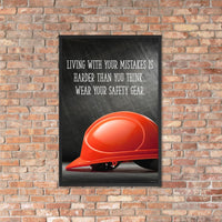 Living with Mistakes - Framed Framed Inspire Safety