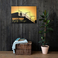 Safety First Safety Always - Safety Posters on Canvas