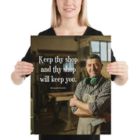 Keep Thy Shop - Premium Safety Poster Poster Inspire Safety 16×20