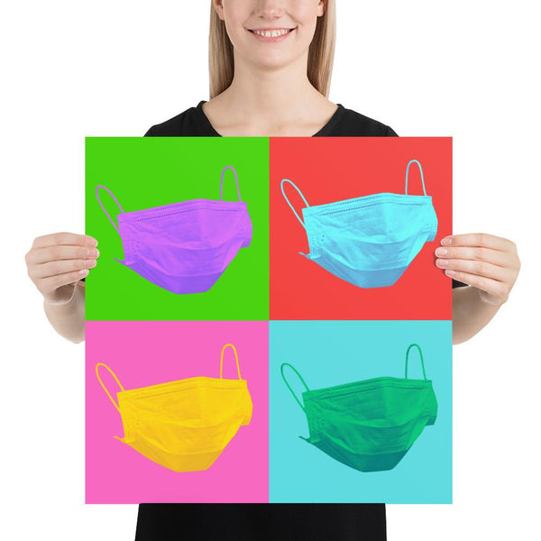 Colorful Safety Art - Face Masks - Premium Safety Poster