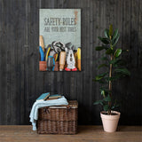 Safety Rules - Canvas Canvas Inspire Safety 24×36