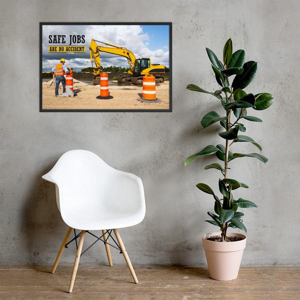 Safe Jobs - Framed Framed Inspire Safety 24×36