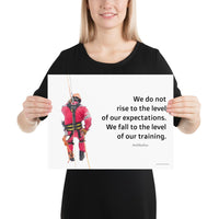 Rise To Expectations - Premium Safety Poster Poster Inspire Safety 12×16