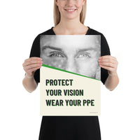 Protect Your Vision - Premium Safety Poster Poster Inspire Safety 12×16
