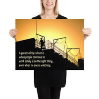 Great Safety Culture - Premium Safety Poster Poster Inspire Safety 18×24