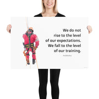 Rise To Expectations - Premium Safety Poster Poster Inspire Safety