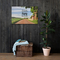 Safety Takes Me Home - Canvas Canvas Inspire Safety 24×36