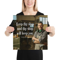 Keep Thy Shop - Premium Safety Poster Poster Inspire Safety 16×16