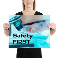 Safety First - Premium Safety Poster Poster Inspire Safety 16×20