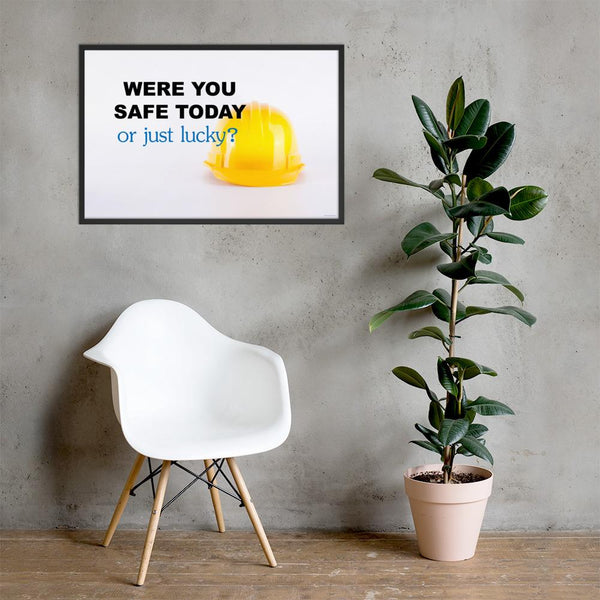 Lucky - Framed Safety Posters