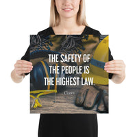 The Highest Law - Premium Safety Poster Poster Inspire Safety 16×16