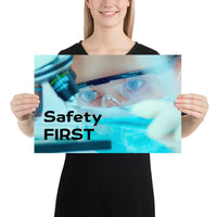 Safety First - Premium Safety Poster Poster Inspire Safety 12×18