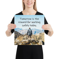 Tomorrow's Reward - Premium Safety Poster Poster Inspire Safety 14×14