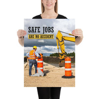 Safe Jobs - Premium Safety Poster Poster Inspire Safety 18×24