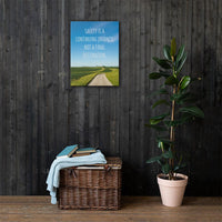 Safety Is A Journey - Canvas Canvas Inspire Safety 18×24
