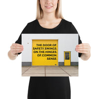 Door of Safety - Premium Safety Poster Poster Inspire Safety 12×16