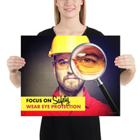 Focus on Safety - Premium Safety Poster Poster Inspire Safety 16×20