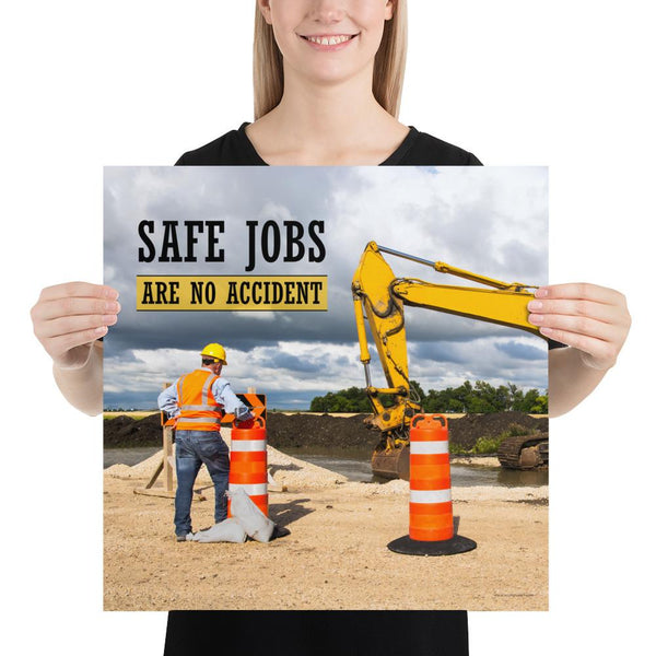 Safe Jobs - Premium Safety Poster Poster Inspire Safety 18×18