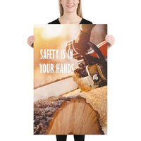 Safety is in Your Hands - Premium Safety Poster
