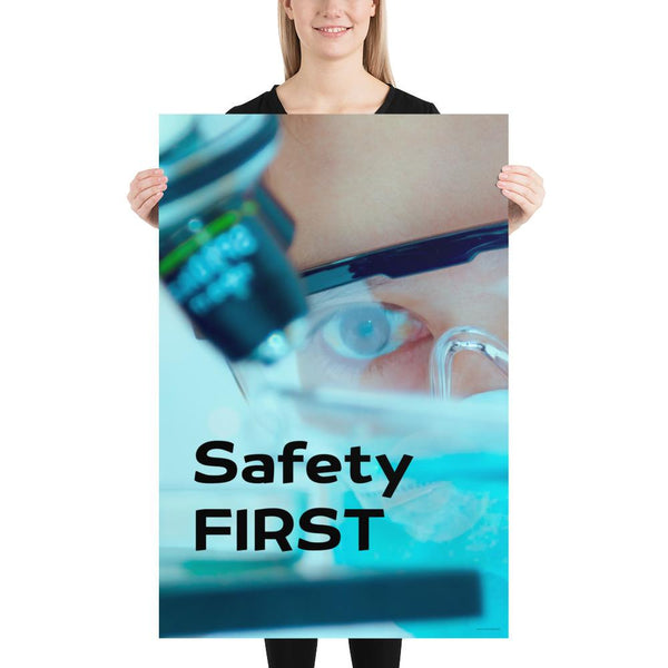 Safety First - Premium Safety Poster Poster Inspire Safety 24×36