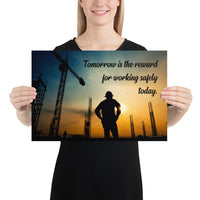 Tomorrow's Reward - Premium Safety Poster Poster Inspire Safety 12×18