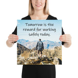 Tomorrow's Reward - Premium Safety Poster Poster Inspire Safety 16×16