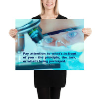 Pay Attention - Premium Safety Poster Poster Inspire Safety 18×24