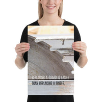 Replacing A Guard - Premium Safety Poster Poster Inspire Safety 12×18