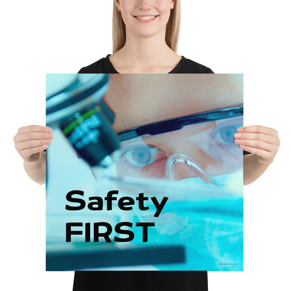 Safety First - Premium Safety Poster Poster Inspire Safety 18×18