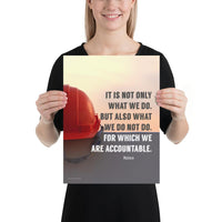 We Are Accountable - Premium Safety Poster Poster Inspire Safety 12×16