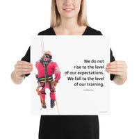 Rise To Expectations - Premium Safety Poster Poster Inspire Safety 16×16