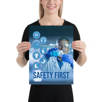 Safety First - Premium Safety Poster Poster Inspire Safety 12×16