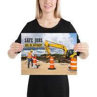 Safe Jobs - Premium Safety Poster Poster Inspire Safety 12×16