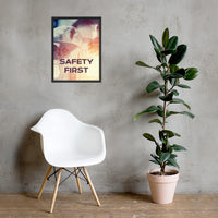 Safety First - Framed Framed Inspire Safety 18×24