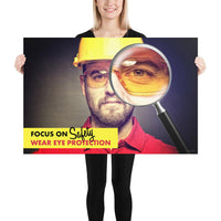 Focus on Safety - Premium Safety Poster Poster Inspire Safety 24×36