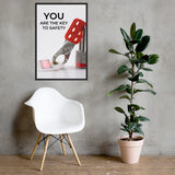 You Are The Key - Framed Framed Inspire Safety 24×36