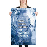 Prevent Heat Stroke - Premium Safety Poster Poster Inspire Safety 24×36