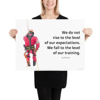 Rise To Expectations - Premium Safety Poster Poster Inspire Safety 18×24
