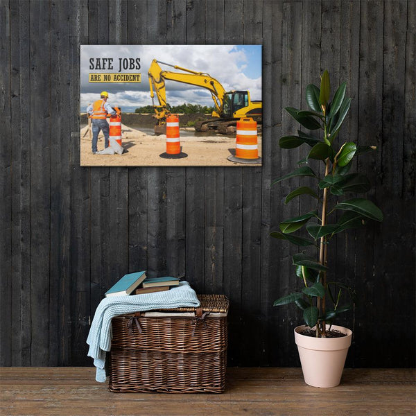 Safe Jobs - Canvas Canvas Inspire Safety 24×36