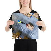Safety First - Premium Safety Poster Poster Inspire Safety 14×14
