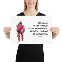 Rise To Expectations - Premium Safety Poster Poster Inspire Safety 12×18