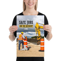 Safe Jobs - Premium Safety Poster Poster Inspire Safety 12×18