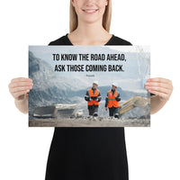 Road Ahead - Premium Safety Poster Poster Inspire Safety 12×18