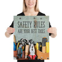 Safety Rules - Premium Safety Poster Poster Inspire Safety 16×20
