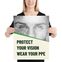 Protect Your Vision - Premium Safety Poster Poster Inspire Safety 16×20