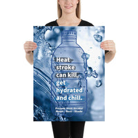 Prevent Heat Stroke - Premium Safety Poster Poster Inspire Safety 18×24