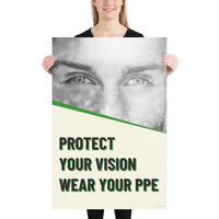 Protect Your Vision - Premium Safety Poster Poster Inspire Safety 24×36