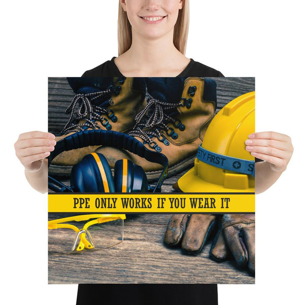 PPE Works - Premium Safety Poster